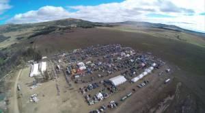 Lugfoto van die kampgronde