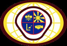 Voorslaggie Wereld Logo V 6cm