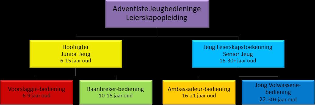 Adventiste Jeug-leierskap Vloeidiagram